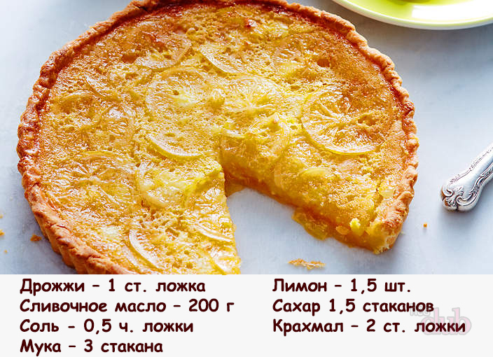 Пирожки с лимоном из дрожжевого теста